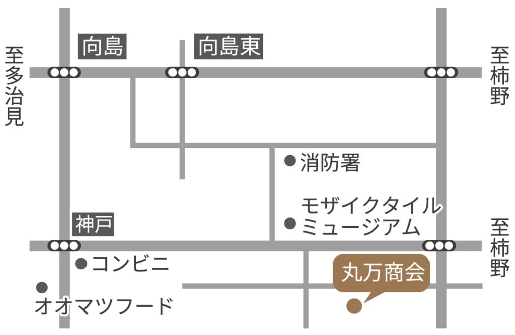 丸万商会地図