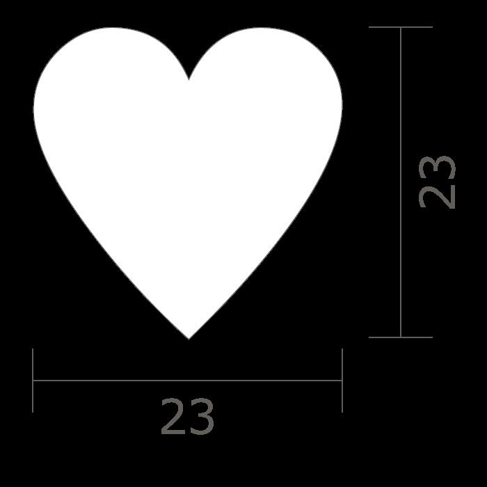 形状図 HEART