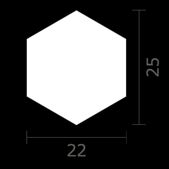 形状図 HEXAGON