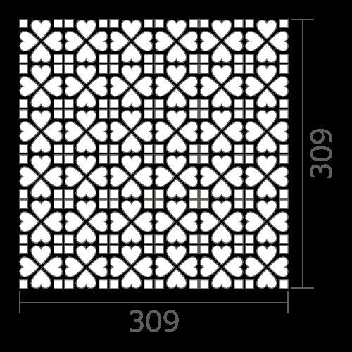 シート図 ハートパターン