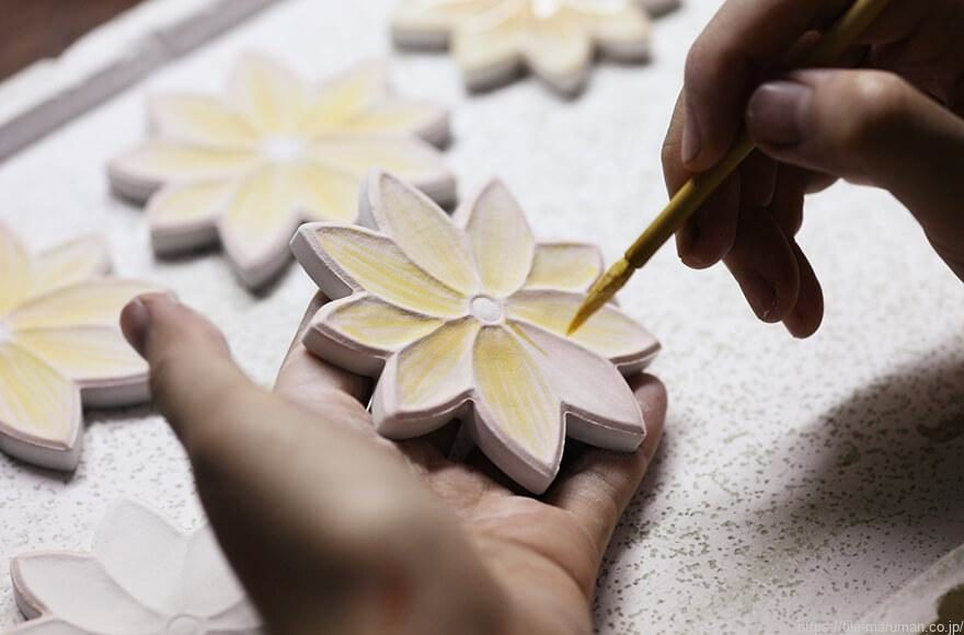 FLOWER HANDGLAZING